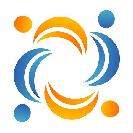 helpers: El trabajo en equipo ayudantes logotipo
