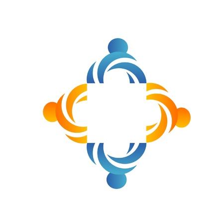 communication concept: Teamwork social business logo