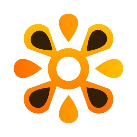 Abstract flower logo Stock Vector - 11663061