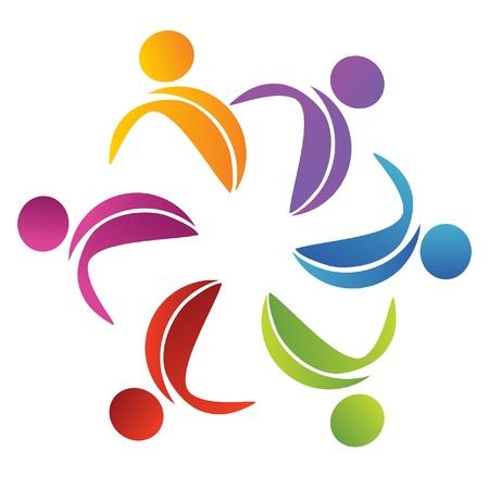 抽象的な花ロゴ  イラスト・ベクター素材