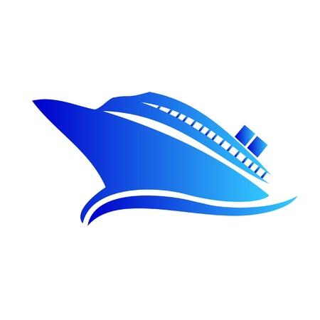 navire: Croisi�re ou le logo de navire Illustration