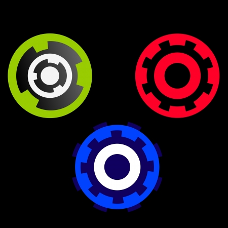 sprocket: Set of colored wheels