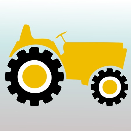 agriculture industrial: Tractor vector logo Illustration