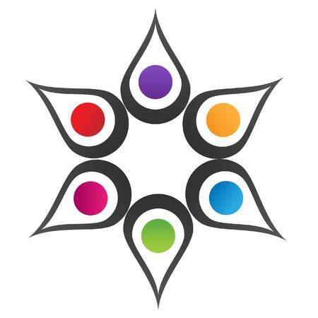 抽象的な花の創造的なロゴ  イラスト・ベクター素材