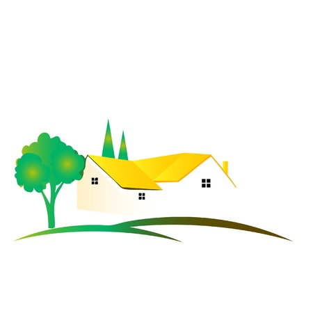 Beautiful House logo Vector