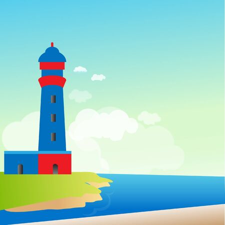 Lighthouse on the island Stock Vector - 11944409