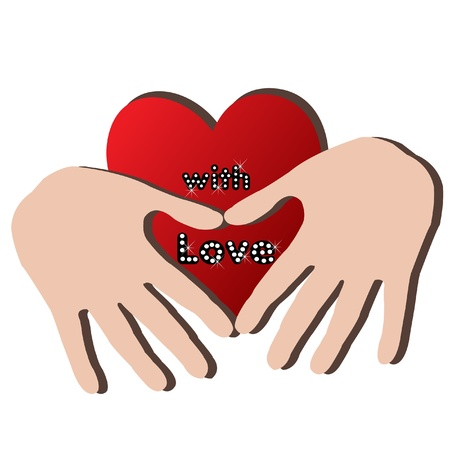 love image: Hands and heart logo