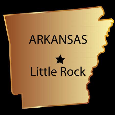 Arkansas staat usa kaart