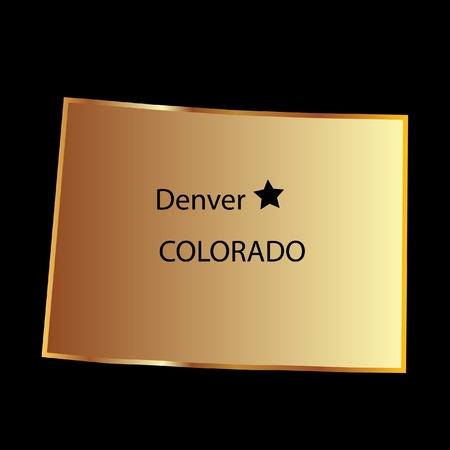 state of colorado: Colorado state usa map