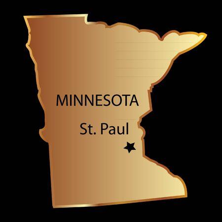 est: Minnesota state usa map