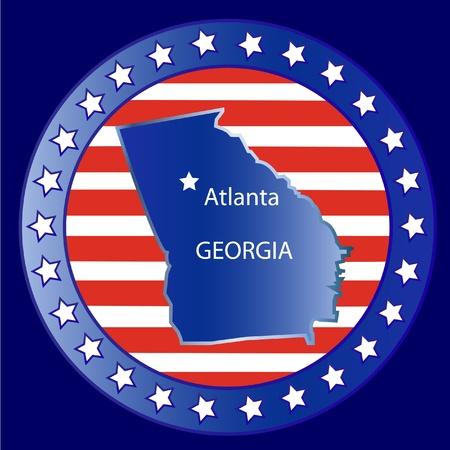Georgia state seal stamp usa  Vector