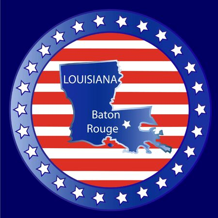 Louisiana state seal stamp usa  Vector