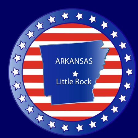 Arkansas state seal stamp usa  Vector
