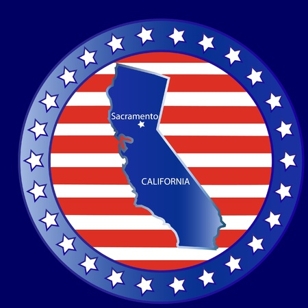 California state seal stamp usa  Vector