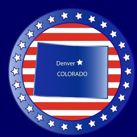 Colorado state seal stamp usa Vector