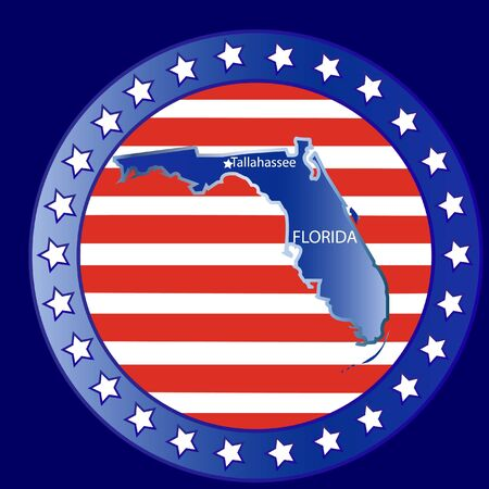 Florida state seal stamp usa  Vector