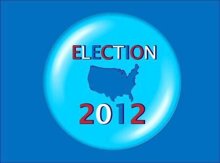 USA Presidential Election 2012  Illustration