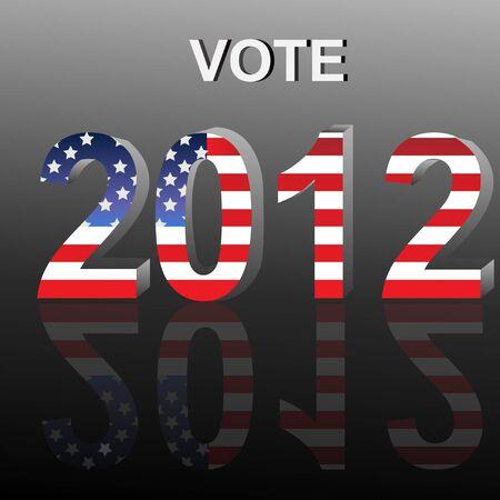 Vote USA Presidential Election 2012 Stock Vector - 12075145