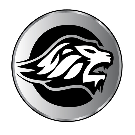 head of lion: Lion face aggressive logo Illustration