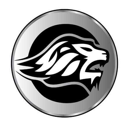 Lion gezicht agressieve logo