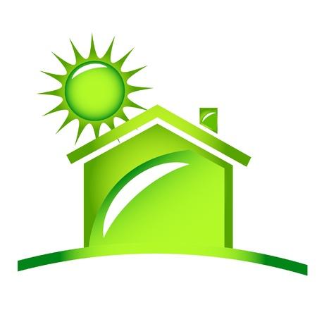 家の生態学的なアイコンのロゴ