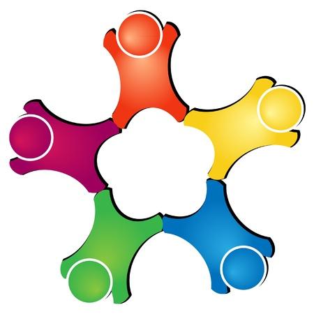 Teamwork figures logo Stock fotó - 12075158