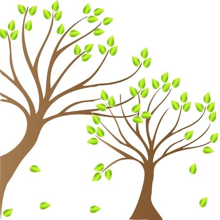 Spring bomen achtergrond logo vector