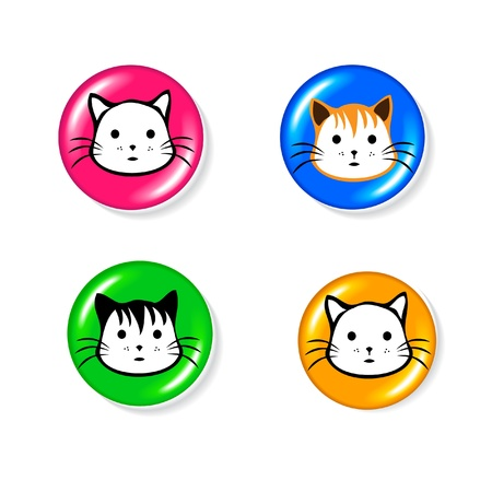 Cat icon set logo Vector