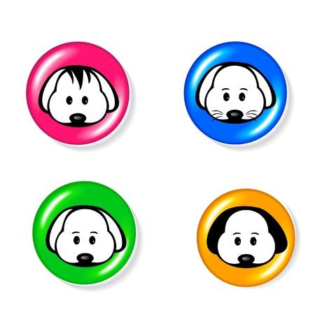 dog ears: Dog icon set logo