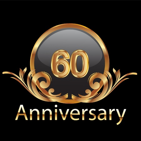 80 years anniversary birthday in gold  Vector