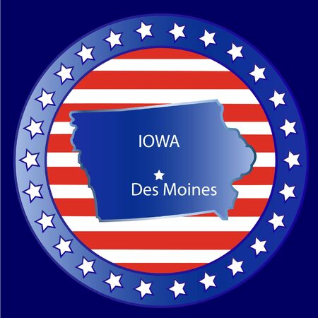 Iowa state seal stamp usa  Vector