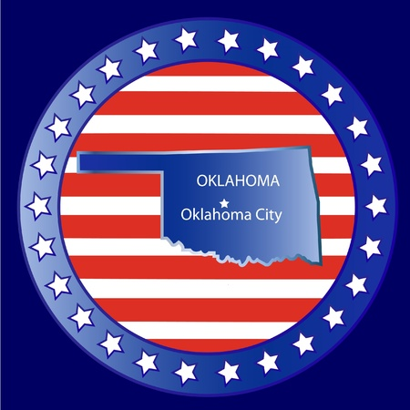Oklahoma state seal stamp usa  Vector