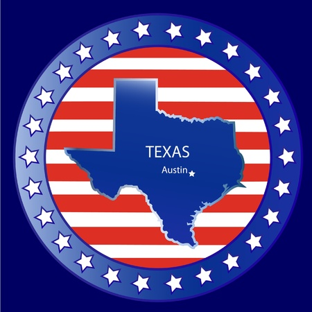 Texas state seal stamp usa  Vector