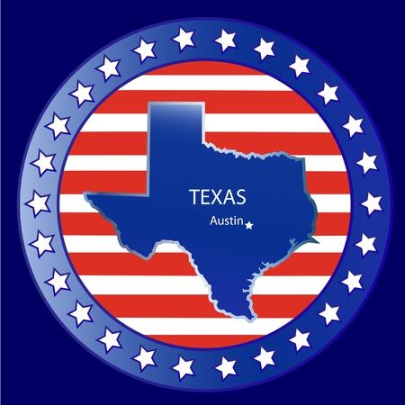 Texas state seal stamp usa  Vector