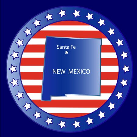 New mexico state seal stamp usa  Vector