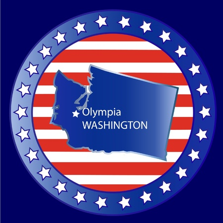Washington state seal stamp usa  Vector