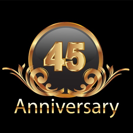 five year: 45 anniversary happy birthday