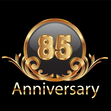 85 anniversary happy birthday  Vector