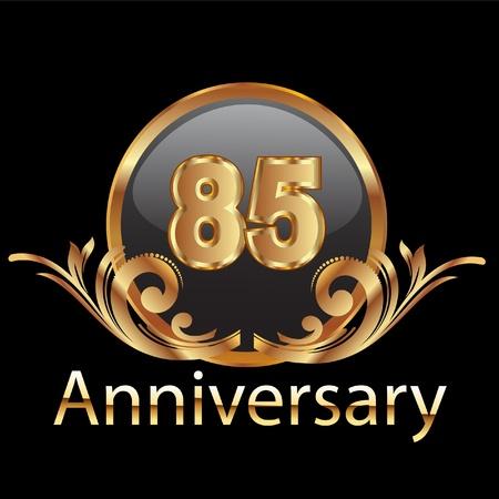 85 anniversary happy birthday  Vector
