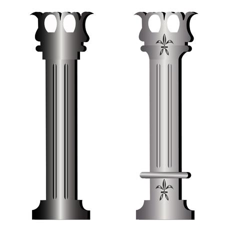 Columns ancient greek historic building Vector