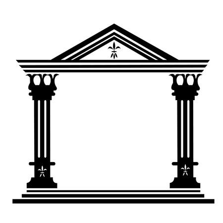 derecho romano: Las columnas d�rico antiguo edificio hist�rico