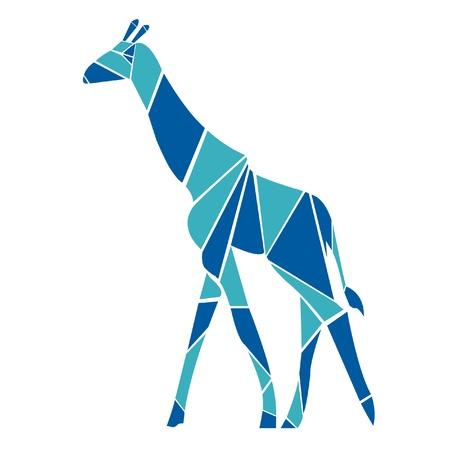 Giraffe in origami style