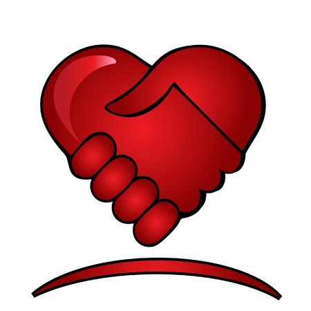Handen schudden logo Stock Illustratie