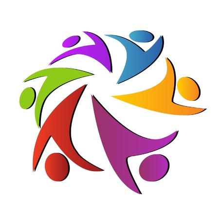 la société: Logo Travail d'équipe