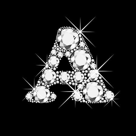 Ein Brief mit Diamanten bling bling Illustration