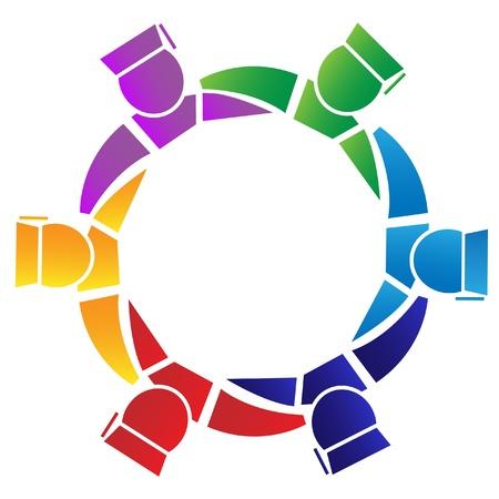 Teamwork Absolventen Logo Standard-Bild - 12490860