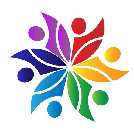 Teamwork diversiteit logo
