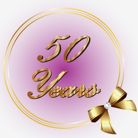 congratulations: 50 Years commemoration design Illustration