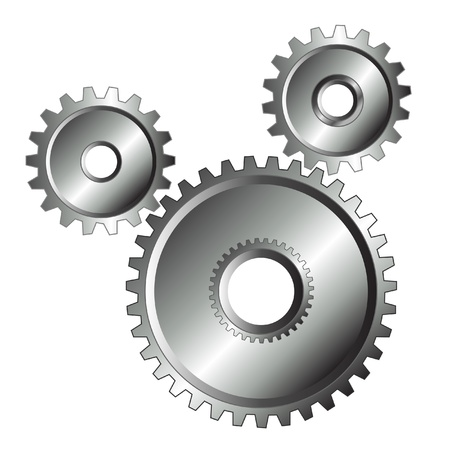 크롬은 고립 된 디자인을 기어 스톡 콘텐츠 - 12805952