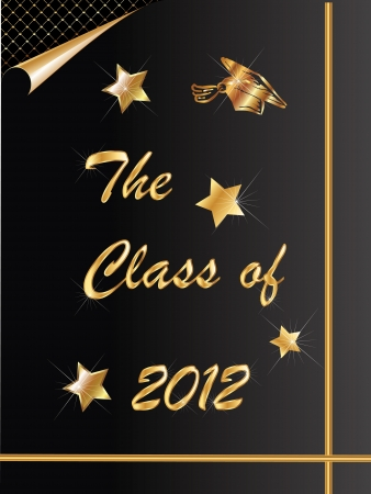 Graduation congratulations 2012 card Vector